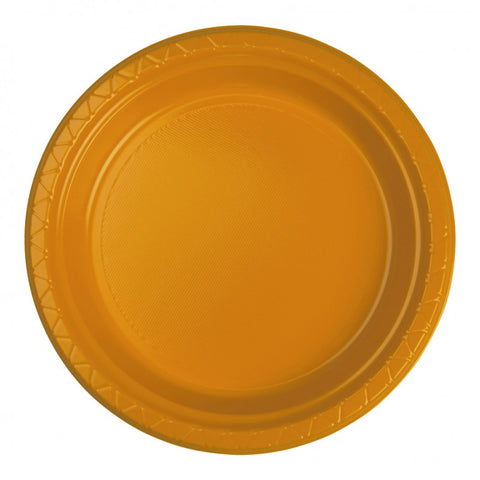 Orange Plastic Dinner Plates (25 Pack)