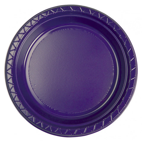 Purple Plastic Dinner Plates (20 Pack)