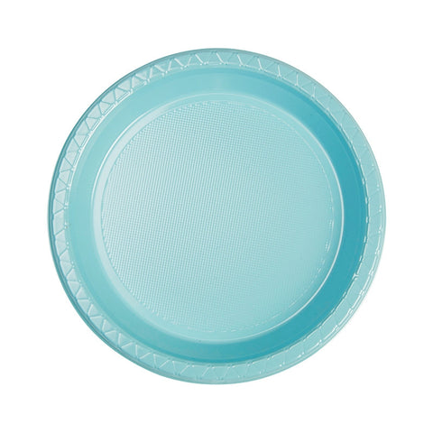 Pastel Blue Plastic Snack Plates (20 pack)