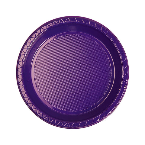 Purple Plastic Snack Plates (20 pack)