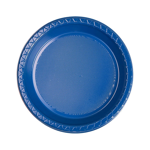 True Blue Plastic Snack Plates (25 pack)