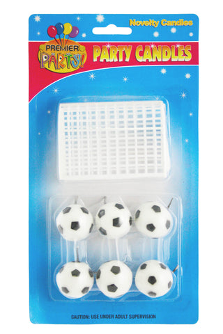 Soccer Balls with Net Candles