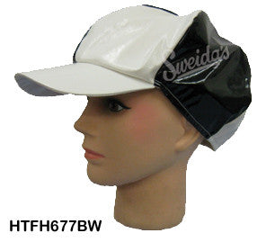 60's Go Go Girl Hat - Black/White