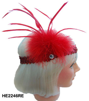 Flapper Headband - Red