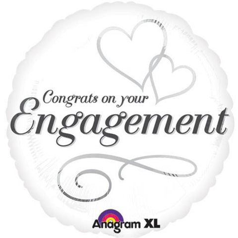 Congratulations On Your Engagement Foil Balloon - 45cm