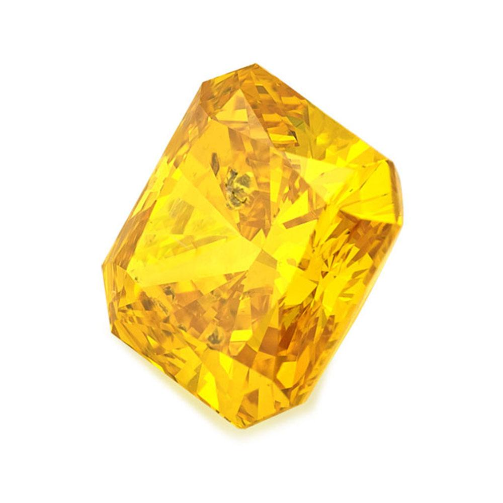 Certified Lab Grown Diamond #900001694 Radiant 1.59 Ct Vivid Yellow Color SI1 Clarity Loose Lab Grown Diamond Renaissance Diamonds