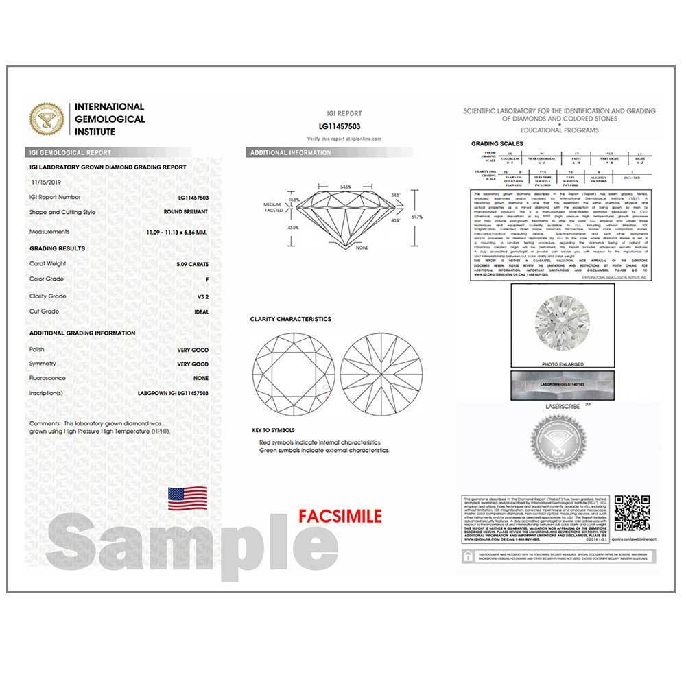 Certified Lab Grown Diamond #900001721 Renaissance Cut 1.72 Ct Vivid Yellow Color SI2 Clarity Loose Lab Grown Diamond Renaissance Diamonds