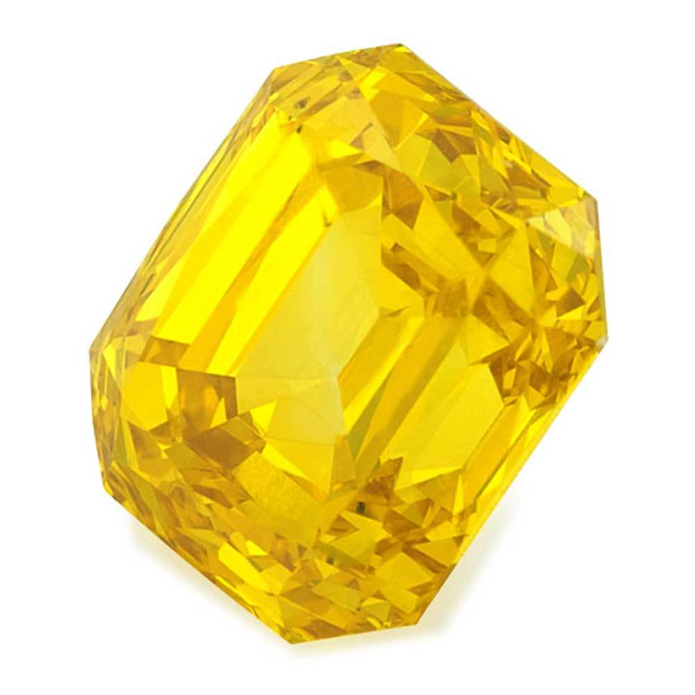 Certified Lab Grown Diamond #900020675 Renaissance Cut 1.07 Ct Vivid Yellow Color SI2 Clarity Loose Lab Grown Diamond Renaissance Diamonds