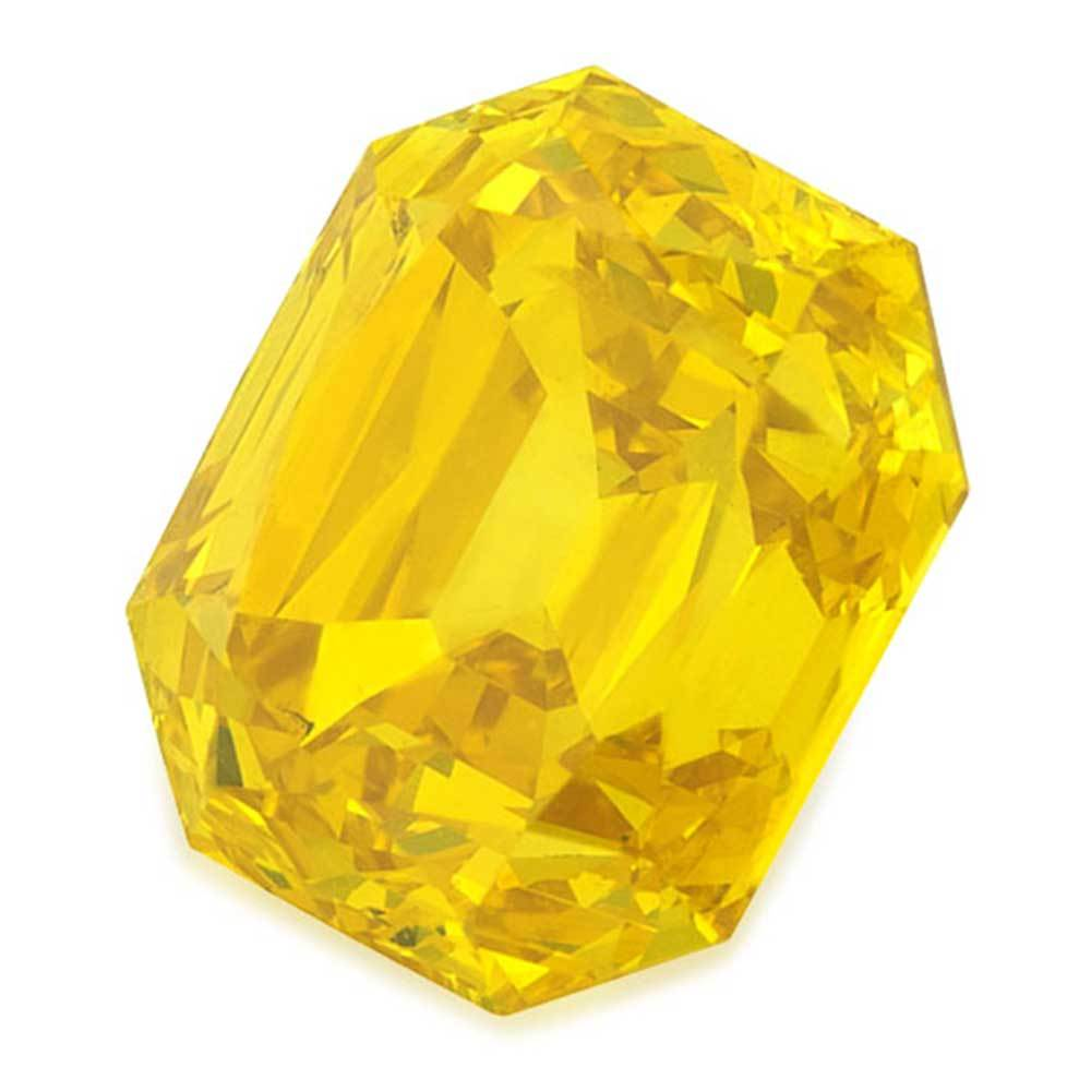 Certified Lab Grown Diamond #900020786 Renaissance Cut 1.50 Ct Vivid Yellow Color I1 Clarity Loose Lab Grown Diamond Renaissance Diamonds