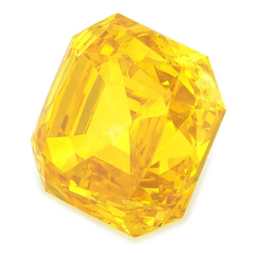 Certified Lab Grown Diamond #900020944 Renaissance Cut 1.30 Ct Vivid Yellow Color VVS2 Clarity Loose Lab Grown Diamond Renaissance Diamonds