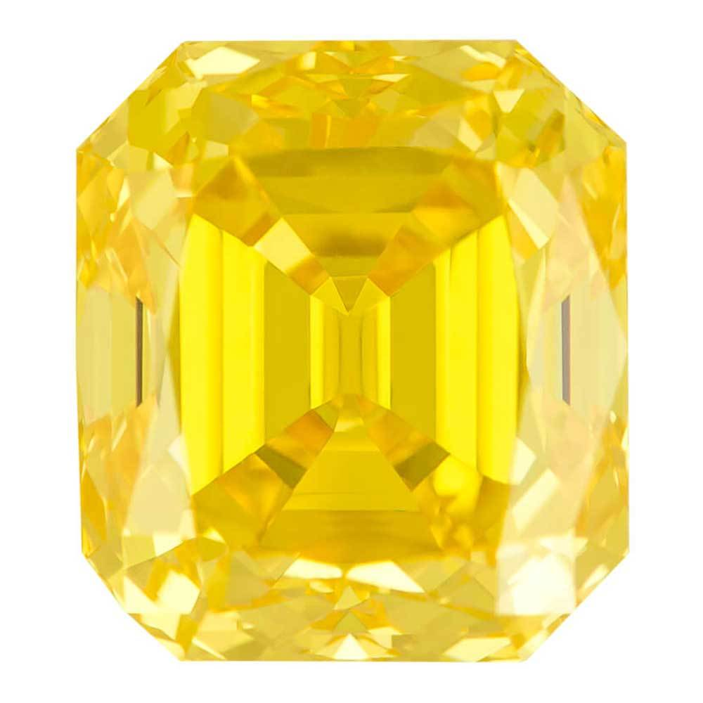 Certified Lab Grown Diamond #900021266 Renaissance Cut 2.21 Ct Vivid Yellow Color I1 Clarity Loose Lab Grown Diamond Renaissance Diamonds