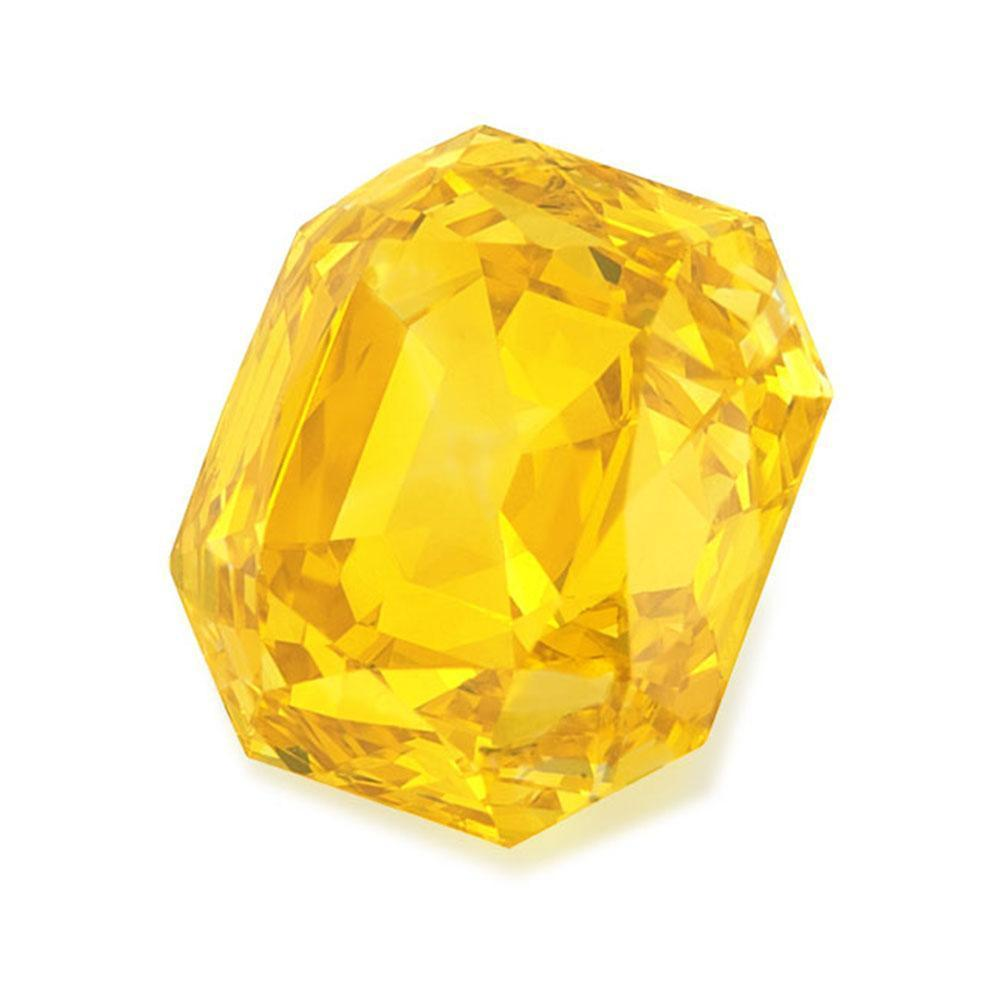 Cultured Diamond Loose For Affordable Wedding Rings, #900001682 Renaissance Cut, 1.51 Ct, Vivid Yellow Color, Si2 Clarity Loose Lab Grown Diamond Renaissance Diamonds