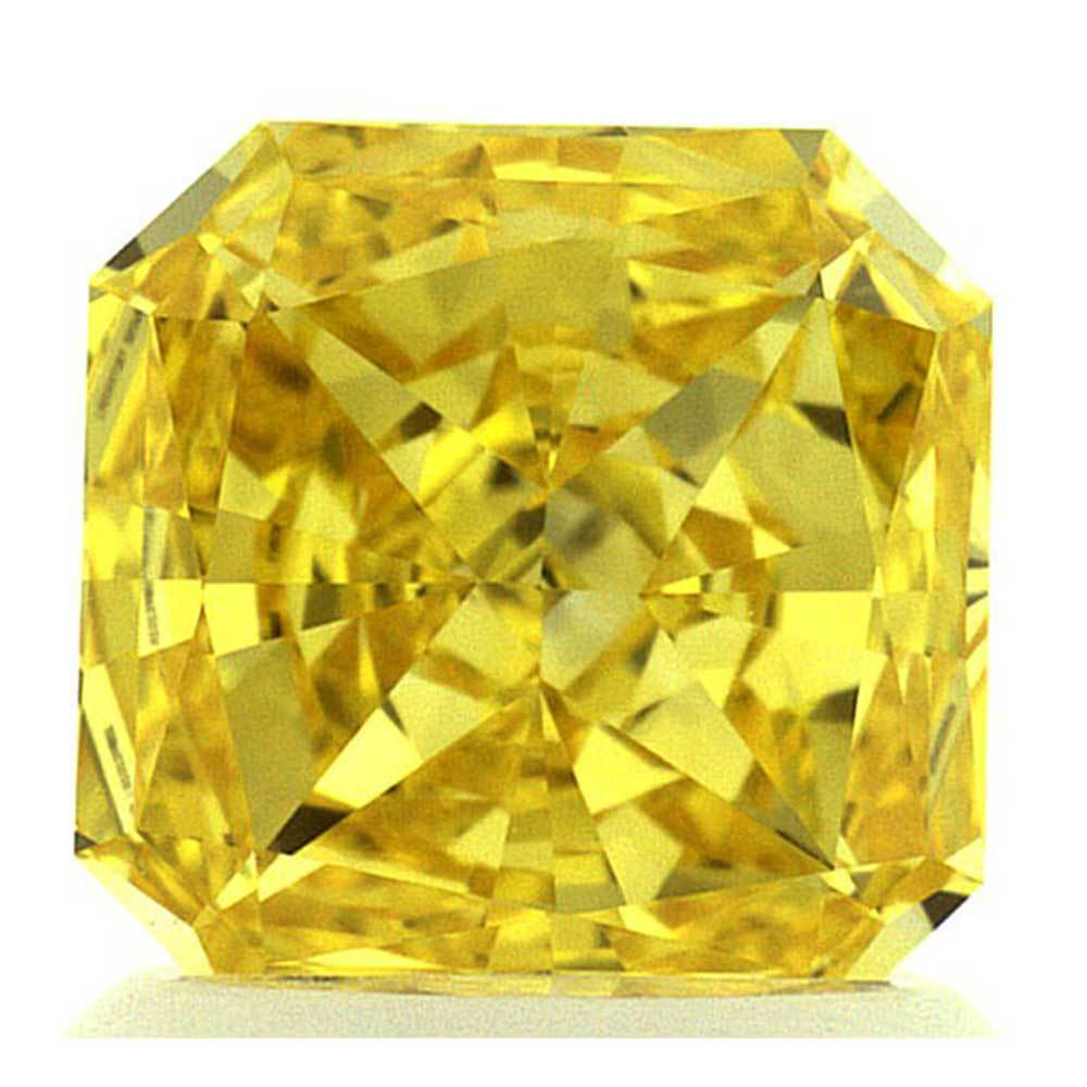 Different Types Of Diamonds, Perfect For Wedding Rings, #900001736 Radiant, 1.22 Ct, Canary Yellow Color, Vs2 Clarity Loose Lab Grown Diamond Renaissance Diamonds