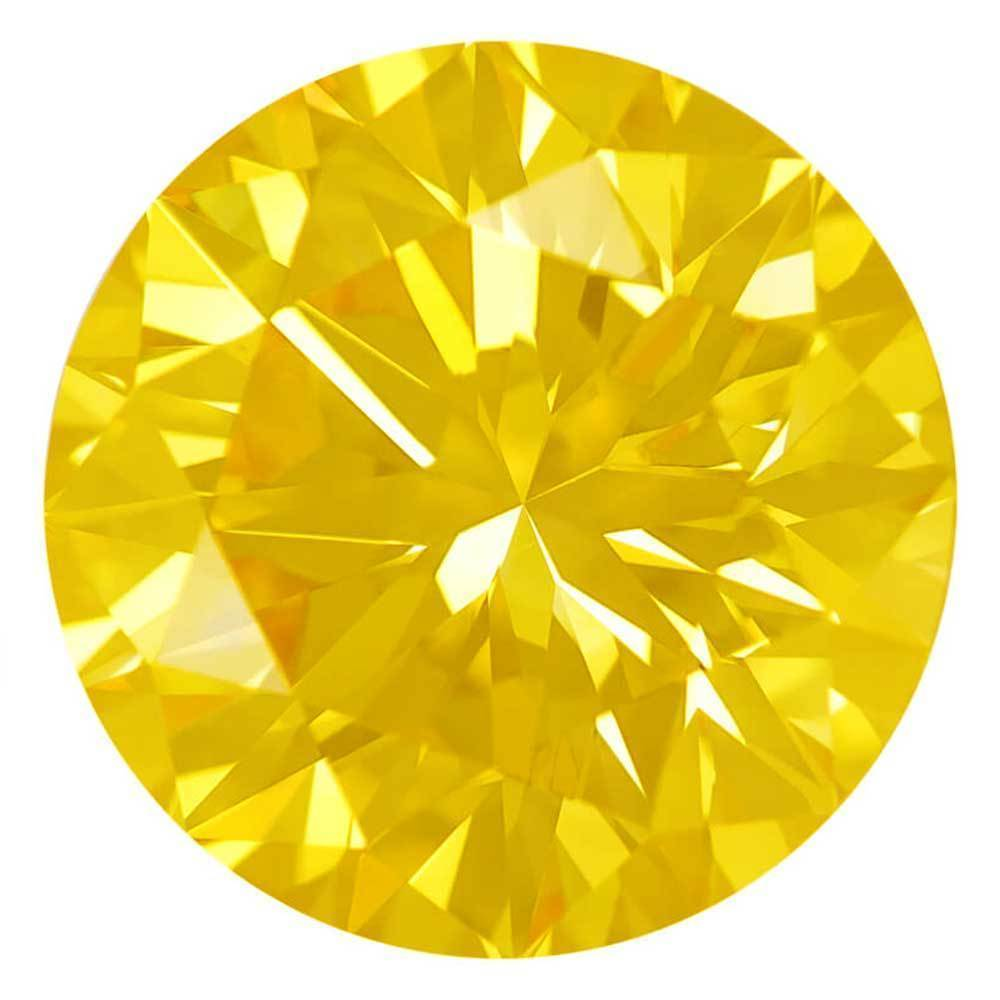 Fake Diamonds That Are Within Your Range For Wedding Rings, #900030555 Round, 1.54 Ct, Canary Yellow Color, Si2 Clarity Loose Lab Grown Diamond Renaissance Diamonds