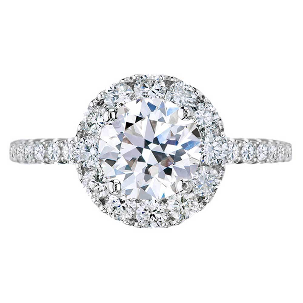 Halo Engagement Ring With Colorless Lab Grown Diamonds Loose Lab Grown Diamond Renaissance Diamonds