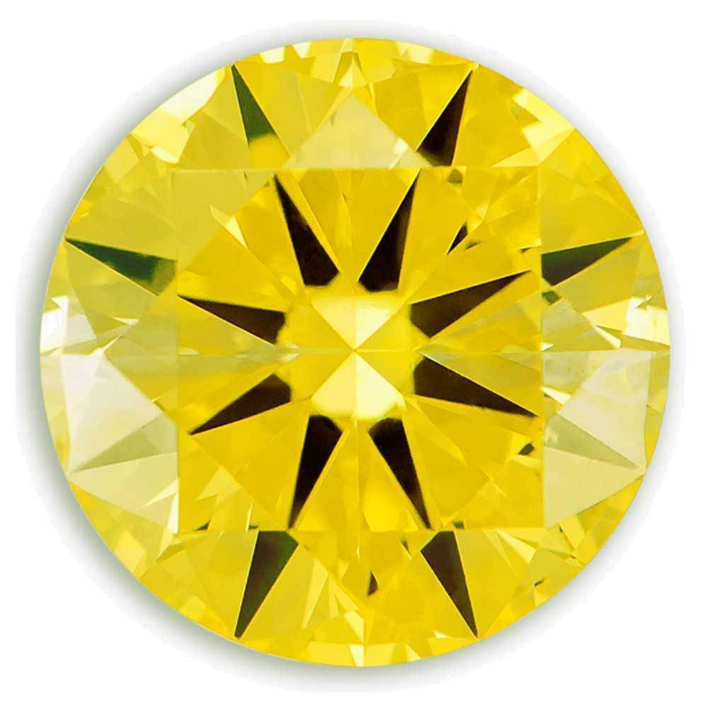 Lab Created Diamonds That Are For Beautiful Rings, #900039985 Round, 1.15 Ct, Canary Yellow Color, Si2 Clarity Loose Lab Grown Diamond Renaissance Diamonds