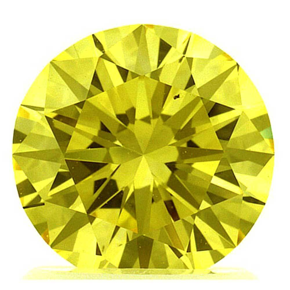Lab Created Diamonds That Are In Your Range For Rings, #900029538 Round, 1.34 Ct, Canary Yellow Color, Vs1 Clarity Loose Lab Grown Diamond Renaissance Diamonds