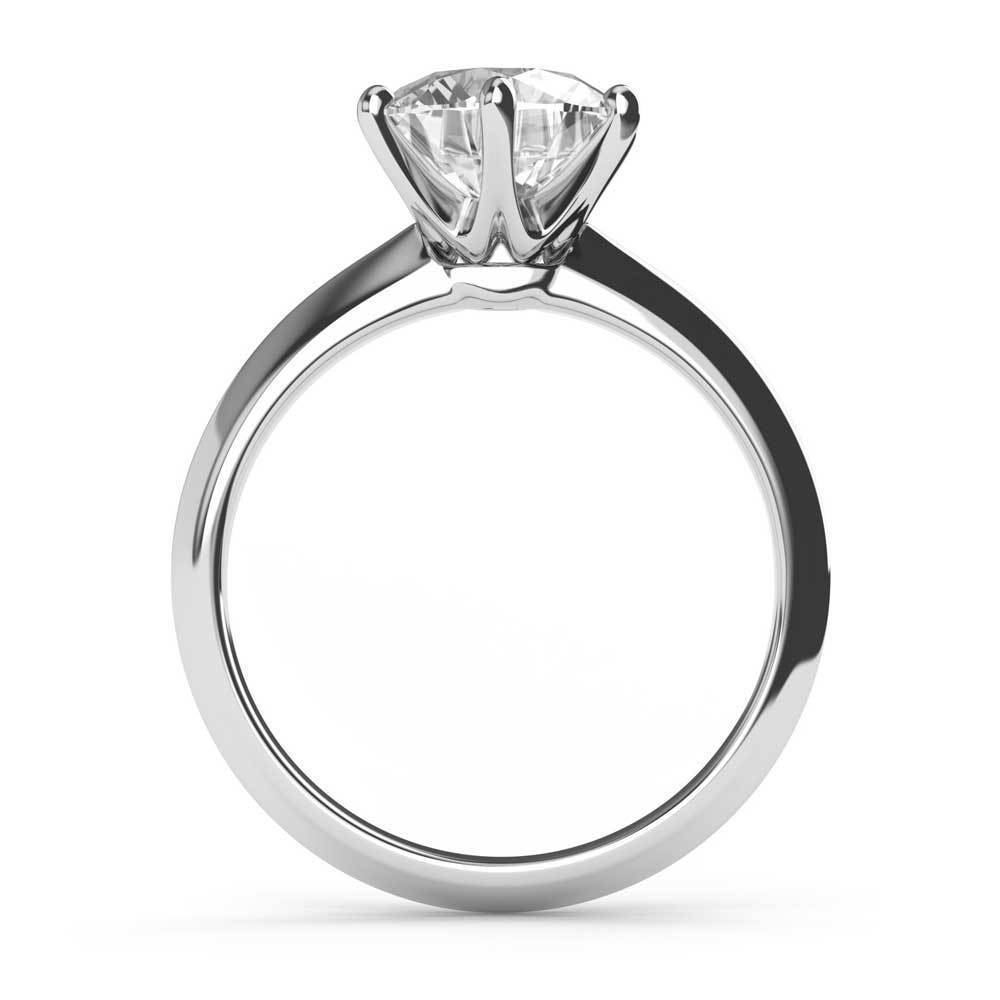 Moissanite Solitaire Ring 6.50 MM Moissanite K&G Creations