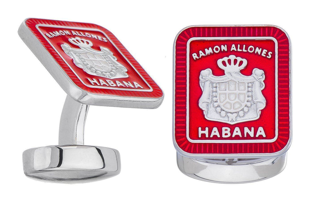 Old Havana Ramon Allones White Gold Cufflinks Cufflinks Olde Havana
