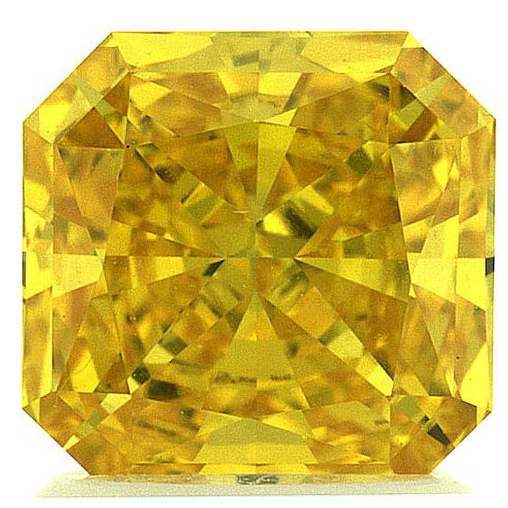 Synthetic Diamond Price That Is Within Your Budget For Rings, #900029996 Radiant, 2.01 Ct, Canary Yellow Color, Vs2 Clarity Loose Lab Grown Diamond Renaissance Diamonds