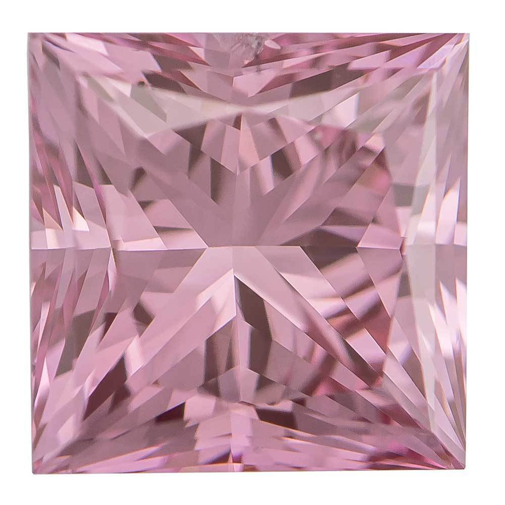 Synthetic Diamonds For Sale In Low Cost For Rings, #930011004 Princess, 1.00 Ct, Bubble Gum Color, Vs2 Clarity Loose Lab Grown Diamond Renaissance Diamonds