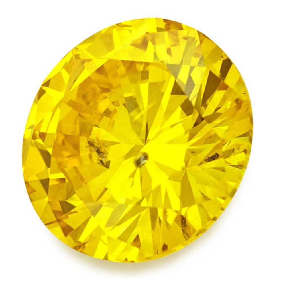 Synthetic Diamonds In Affordable Price For Engagement Rings, #900027030 Round, 1.33 Ct, Vivid Yellow Color, Si2 Clarity Loose Lab Grown Diamond Renaissance Diamonds