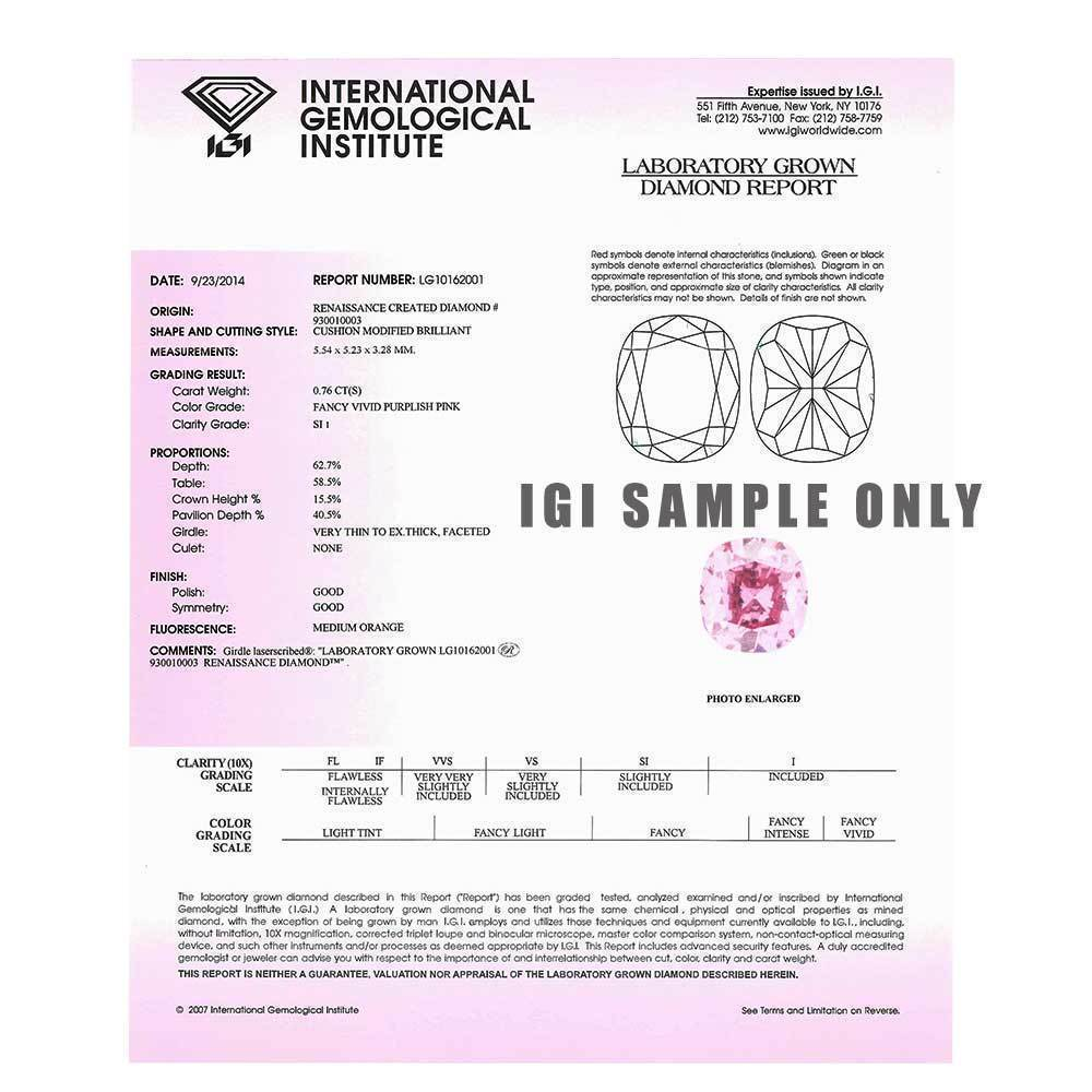 Synthetic Diamonds That Are Perfect For Engagement Rings, #930010475 Round, 0.73 Ct, Crocus Pink Color, Vvs2 Clarity Loose Lab Grown Diamond Renaissance Diamonds
