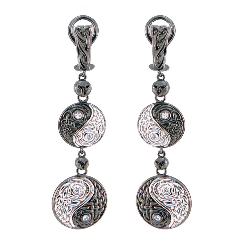 Yin~Yang Earrings With Diamonds & White Gold Earring InHarmony