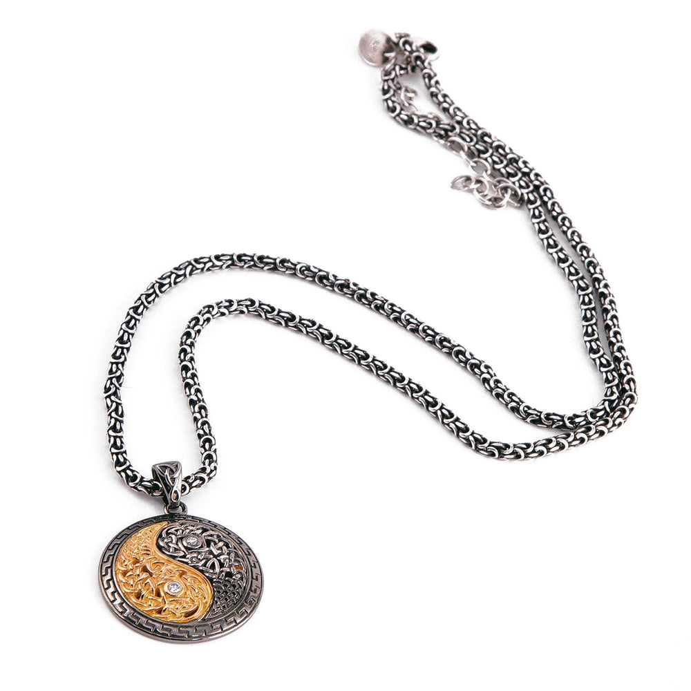 Yin~Yang Necklace With Diamonds & Yellow Gold Pendant InHarmony