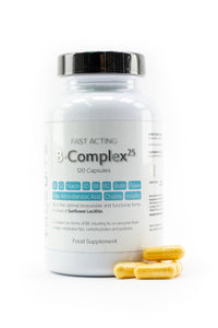 Fast Acting Vitamin B-Complex 25 with Sunflower Lecithin