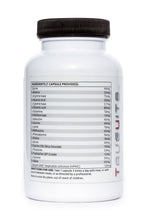 Load image into Gallery viewer, Truevits.uk the 20 Aminos bottle 120 capsules back with ingredients list