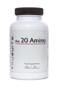 Truevits.uk the 20 Aminos bottle 120 capsules front