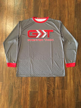 Load image into Gallery viewer, Gray/Red Long Sleeve