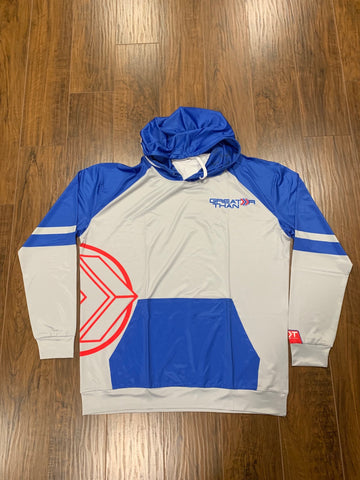 Grey/Blue/Red Lightweight Hoodie