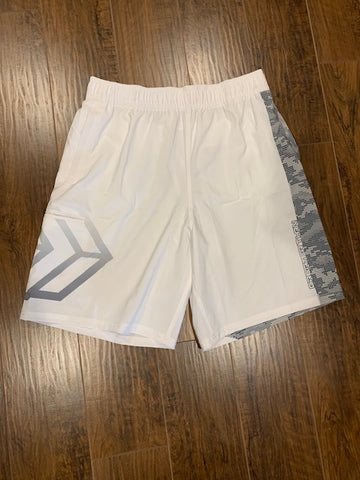 White Dot Camo Shorts