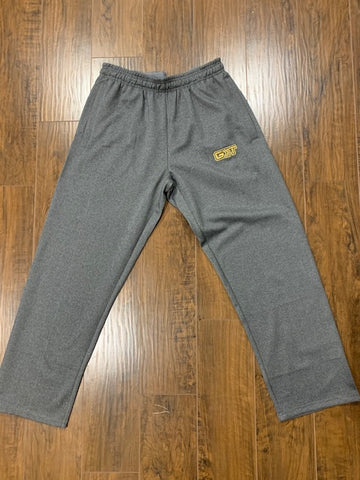 Grey/Metallic Gold Fleece Sweatpants