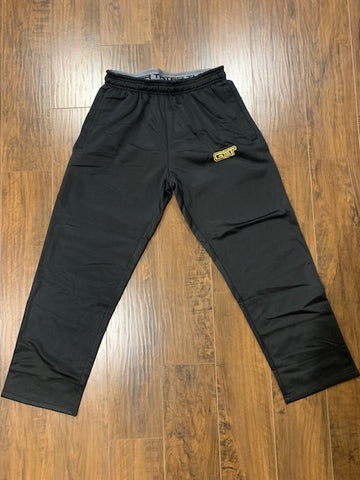 Black/Metallic Gold Fleece Sweatpants