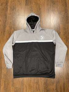 Black/Gray Fleece Hoodie