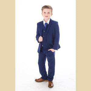 5 piece jacket suit in blue
