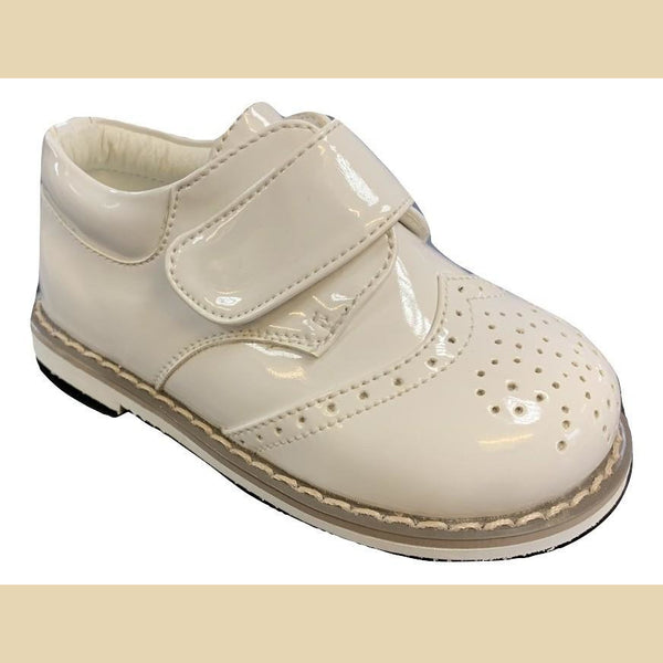 Boys Early Steps Ivory Brogue Derby Shoes