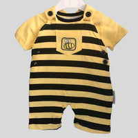 Bee Dungaree Style Romper With T-Shirt