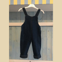 Denim Dungarees With Teddy Motif