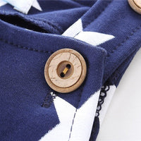 Navy Blue Star Dungarees