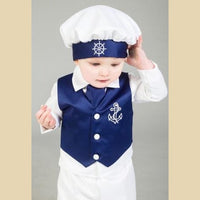 Boys Anchor Christening Suit in Navy