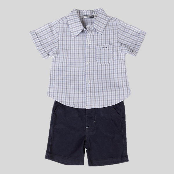 Checked Shorts & Shirt Set