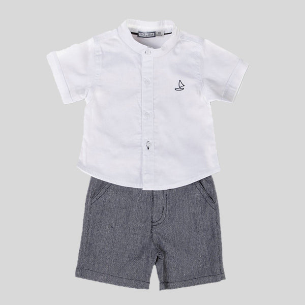 Woven Shorts & Shirt Set