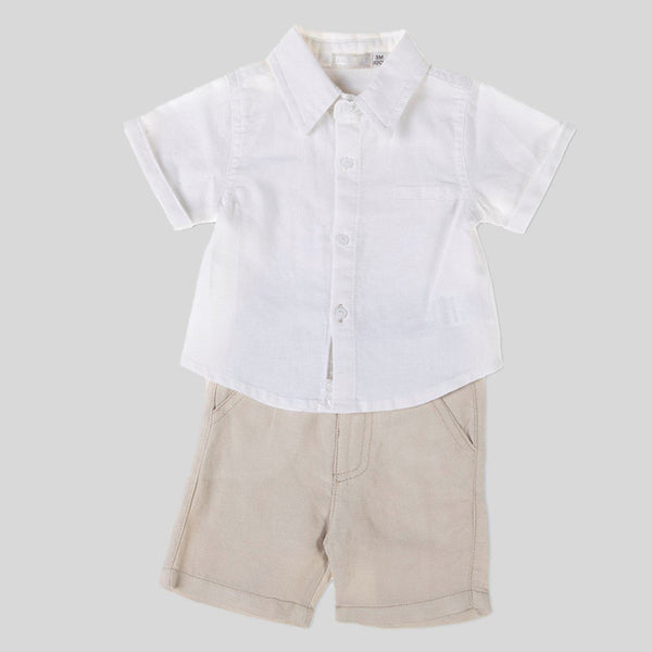 Linen Shorts & Shirt Set