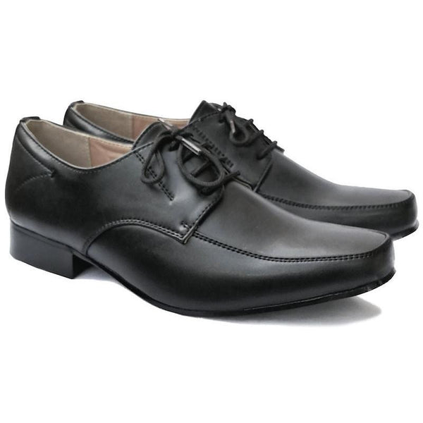 Boys William Shoes in Matte Black