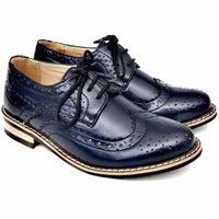 Boys Brogue Shoes in Navy