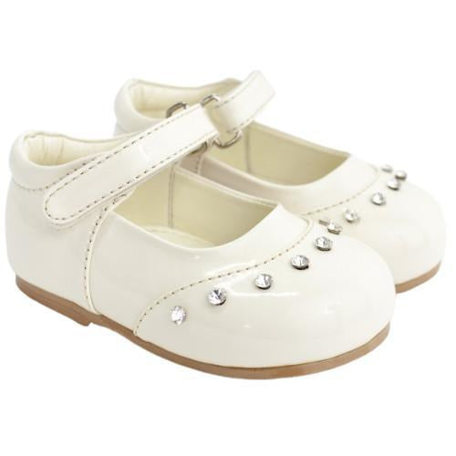 Girls Early Steps Fairy Ivory Patent Shoes